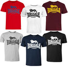 Lonsdale Classic Logo Lion T-Shirt Black Grey Blue Oxblood White Red Regular Fit