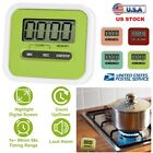 Digital Kitchen Timer Magnetic Cooking Large LCD Screen Count Down Up Loud Alarm
