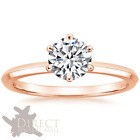 10ct Rose GOLD Round Brilliant Cut Created DIAMOND Solitaire ENGAGEMENT Ring NEW