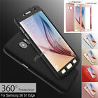 360° Full Protective Front+Back Armor Case Cover For Samsung Galaxy S6 S7 Edge