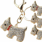 New Gold & Crystal Bag Charm Keyring Westie Dog West Highland Terrier Faux Gems