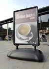 Sightmaster Pro Striking 'all black' forecourt sign with front-opening snapframe
