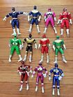 Lot 11 Mixed Vintage Bandai Power Rangers Action Figures - Zeo*Turbo*MMPR*Space+