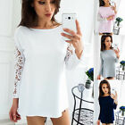 Fashion Hot New Women Long Sleeve Loose Autumn Ladies Lace Lady T-Shirt Casual K