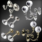 2 Essentials Classic Metal/Crystal Ball Design Curtain Tie Back Hook Holdbacks