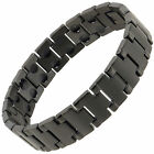 New Sisto-X Mens Stainless Steel Magnetic Bracelet Black Cobra Health Rare Earth