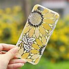 For iPhone 5/5S 6/6S 6 Plus Unique Printed Sunflower Pattern Ultra Slim TPU Case