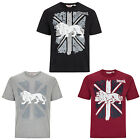 Lonsdale T-Shirt Boxing Graphic Union Jack Logo Black Grey Red Regular Fit Hemd