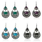 Fashion Elegant Women Silver Rhinestones Crystal Dangle Earrings Jewelry Gifts