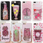 Bling Pattern Dynamic Glitter Liquid Quicksand Case Cover for iPhone 6/6s/7/8/X