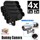 4X 2X Dummy Bullet Fake CCTV Camera Home Security Flash LED Night Outdoor