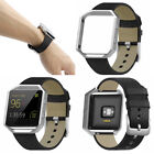 Genuine Leather Watch Band Wrist Strap Bracelet Or Metal Frame For Fitbit Blaze