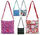 WOMENS SMALL ZIP FLAT POUCH CROSS OVER SATCHEL CASUAL TRAVEL PURSE BAG