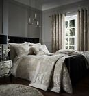 Catherine Lansfield Crushed Velvet Bedding Collection Duvet Cover Curtains