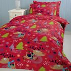 Christmas with Rudolph 100% Brushed Cotton Xmas Winter Bedding Single Double