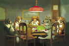 """Dogs Playing Poker Cards Art Silk Fabric Poster For Wall Decor 24""""x36"""" Print 11"""