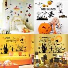 Happy Halloween Wall Stickers Decals Shop Windows Room Modern Decors Removable