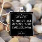 """I DIDN'T LOSE MY MIND"" SARCASTIC SAYING FUNNY HUMOROUS GLASS PENDANT NECKLACE"