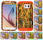 For Samsung Galaxy S6 - KoolKase Hybrid Impact Silicone Cover Case CAMO MOSSY 11