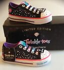GIRLS TWINKLE TOES BY SKECHERS - BLACK MULTI - BRAND NEW - SIZES UK 9.5 TO 12.5