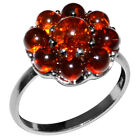 2.67g Authentic Baltic Amber 925 Sterling Silver Ring Jewelry N-A7096