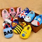 Boys Girls Newborn Soft Cotton Slip-on Skidproof Infant Baby Toddler Pram Shoes