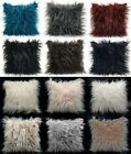 "Large Cushion Cover Or Cushions Long Shaggy Faux Fur Cushions 21x21"" Or 17x17"""