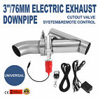 Hot 3''Electric Exhaust Catback Downpipe Cutout E-Cut Out Valve System Safe