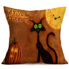Halloween Cotton Linen Throw Pillow Case Cushion Cover Home Sofa Car Bed Decor
