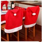 2/4/6/8 PCS Santa Clause Red Hat Chair Back Cover Christmas Dinner Table Party