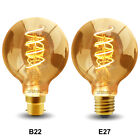 Retro Vintage LED GLOBE 4W Edison Style Spiral Filament Light Bulb B22 or E27