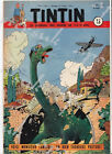 Vintage Tintin Magazine Cover Dinosaurs Poster A3/A4 Print