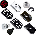 Aluminum Seat Bolt Chrome or Black Cover nut for Harley Touring Softail Dyna CVO $5.89 USD on eBay