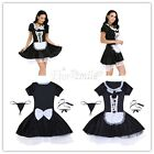 Women Sexy Maid Costume Cute Outfit Cosplay Maidservant Apron Outfits Dress