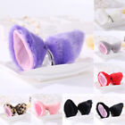 Funny Faux Fur Cosplay Halloween Cat Fox Ears Hair Clip Adorable Anime Hairpin