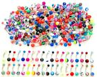 14G MIX ACRYLIC UV BALL BELLY BUTTON NAVEL RING BODY JEWELRY PIERCINGS WHOLESALE $8.99 USD on eBay