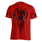 American Warrior Flag Skull Military Men's T-Shirt