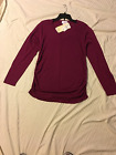 Motherhood Maternity: Long Sleeve Lt. Wt. Pull Over Sweater Ruched Sides: L
