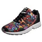 Adidas Originals ZX Flux Womens Girls Classic Casual Retro Trainers Black Multi