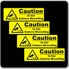 CCTV Yellow Warning Sticker Signs - In Car Camera Recording Taxi Home Window