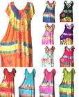 Women Long Maxi summer beach hawaiian Boho evening sundress dress PLUS SIZE 1076