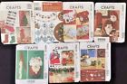 CHRISTMAS STOCKINGS & decorations uncut paper patterns CHOOSE DESIGN