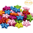100pcs Wooden Pices Bottons Scrapbooking Craft for DIY Making Decor Favor