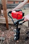 Tool Tuff Hand-Held Post Hole Digger Combo: 1 Auger and 52cc 2.3 hp Power head!