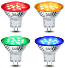 Red Green Blue Yellow 12V LED MR11 Low Voltage Light Bulb GU4 Coloured Spotlight