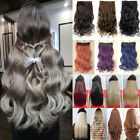 Real Thick Women Hair 1Piece Full Head Clip In Hair Extensions Natural Soft T34
