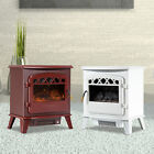 1500W Heat Adjustable Freestanding Electric Fireplace Heater Stove w/ Flame Log