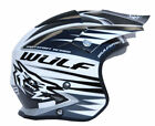 WULFSPORT WULF TRI ACTION TRIALS HELMET WHITE ADULT CHILDRENS XXS XS S M L XL