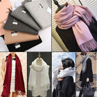 Usa Fashion Women Winter Cashmere Blend Pashmina Solid Tassel Shawl Wrap Scarves