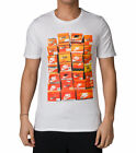 Nike Men's NSW Vintage Shoebox T-Shirt 834636 100 WHITE ORANGE BLACK